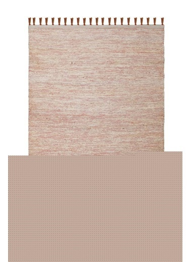 Giz Home Pata Jüt Halı 705 Turuncu Renkli